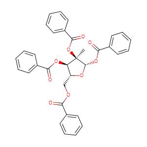 1,2,3,5-Tetra-O-benzoyl-2-C-methyl-beta-D-ribofuranose,CAS No. 15397-15-6.