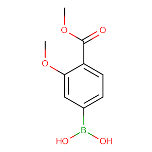 4 - Methoxycarbonyl - 3 - methoxyphenylboronic acid,CAS No. 603122-41-4.