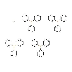 Tetrakis(triphenylphosphine)palladium,CAS No. 14221-01-3.