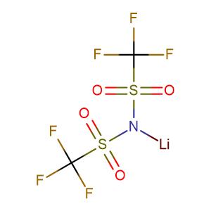 Lithium bis(trifluoromethanesulphonyl)imide,CAS No. 90076-65-6.