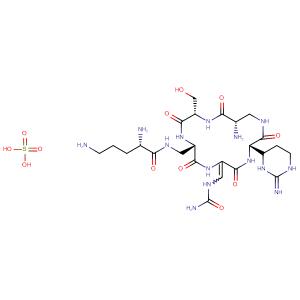 Capastat sulfate,CAS No. 1405-37-4.