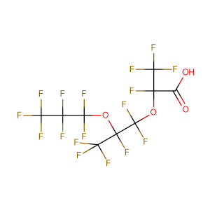 Perfluoro-2,5-dimethyl-3,6-dioxanonanoic acid,CAS No. 13252-14-7.