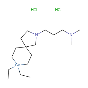 3-(8,8-diethyl-3-aza-8-germaspiro[4.5]decan-3-yl)-N,N-dimethylpropan-1-amine dihydrochloride,CAS No. 41992-22-7.