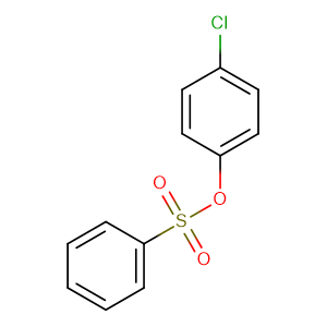 (4-chlorophenyl) benzenesulfonate,CAS No. 80-38-6.