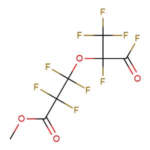 methyl 2,2,3,3-tetrafluoro-3-(1,1,1,2,3-pentafluoro-3-oxopropan-2-yl)oxypropanoate,CAS No. 69116-72-9.
