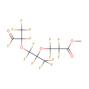 methyl 2,2,3,3-tetrafluoro-3-[1,1,1,2,3,3-hexafluoro-3-(1,1,1,2,3-pentafluoro-3-oxopropan-2-yl)oxypropan-2-yl]oxypropanoate,CAS No. 69116-73-0.