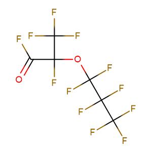 2,3,3,3-tetrafluoro-2-(1,1,2,2,3,3,3-heptafluoropropoxy)propanoyl fluoride,CAS No. 2062-98-8.