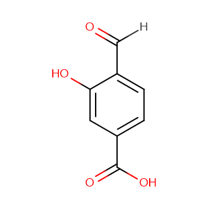 4-formyl-3-hydroxybenzoic acid,CAS No. 619-12-5.