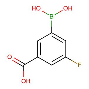 3-Borono-5-fluorobenzoic acid,CAS No. 871329-84-9.