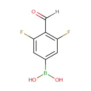 3,5-Difluoro-4-formylphenylboronic acid,CAS No. 870718-11-9.