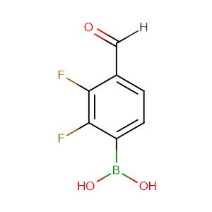 2,3-Difluoro-4-formylphenylboronic acid,CAS No. 480424-84-8.