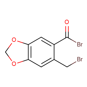 2-Brommethyl-4,5-methylendioxy-benzoylbromid,CAS No. 5086-04-4.