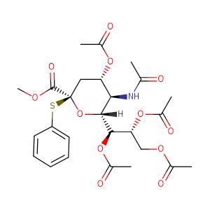 methyl (phenyl 5-acetylamino-4,7,8,9-tetra-O-acetyl-3,5-dideoxy-2-thio-D-glycero-β-D-galactonon-2-ulopyranoside)onate,CAS No. 118977-25-6.