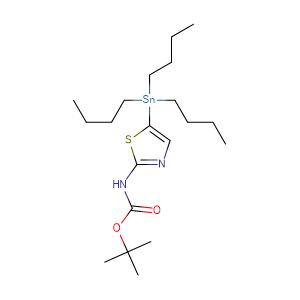 (5-tributylstannyl-thiazol-2-yl)-carbamic acid tert-butyl ester,CAS No. 243972-26-1.