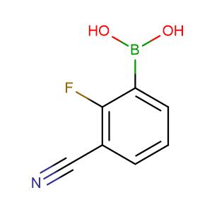 (3-Cyano-2-fluorophenyl)boronic acid,CAS No. 957121-05-0.