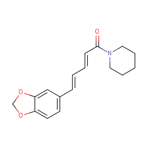 1-[1-oxo-5-(3,4-methylenedioxyphenyl)-(2E,4E)-pentadienyl]-piperidinE,CAS No. 94-62-2.
