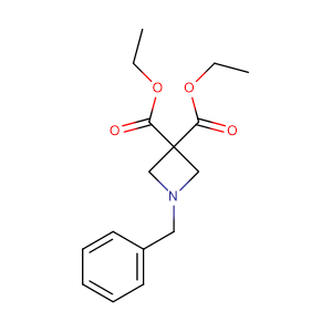 diethyl 1-(phenylmethyl)-3,3-azetidinedicarboxylate,CAS No. 642411-11-8.