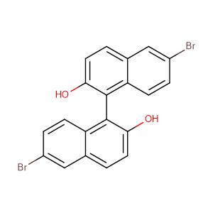(S)-6,6'-dibromo-1,1'-binaphthalene-2,2'-diol,CAS No. 13185-00-7.
