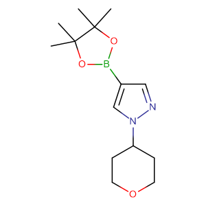 1H-Pyrazole, 1-(tetrahydro-2H-pyran-4-yl)-4-(4,4,5,5-tetramethyl-1,3,2-dioxaborolan-2-yl)-,CAS No. 1040377-03-4.