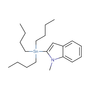 N-Methyl-1H-indol-2-tributylstannane,CAS No. 157427-46-8.