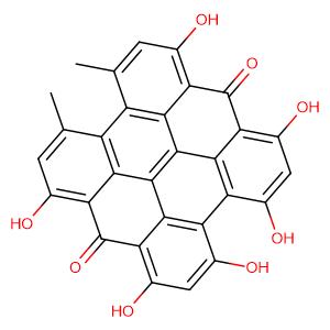 Hypericin,CAS No. 548-04-9.