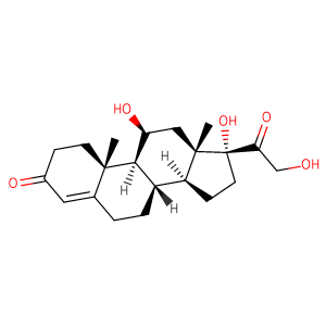 Hydrocortisone,CAS No. 50-23-7.
