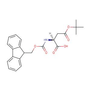 (S)-2-((((9H-Fluoren-9-yl)methoxy)carbonyl)amino)-4-(tert-butoxy)-4-oxobutanoic acid,CAS No. 71989-14-5.