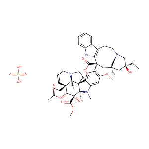 Vinblastine sulfate,CAS No. 143-67-9.