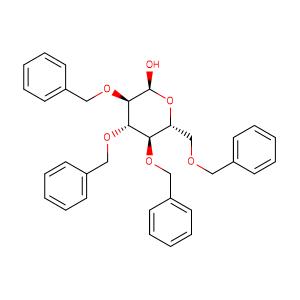 α-(2S,3R,4S,5R,6R)-3,4,5-Tris(benzyloxy)-6-((benzyloxy)methyl)tetrahydro-2H-pyran-2-ol,CAS No. 6564-72-3.