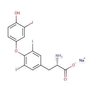 Liothyronine sodium,CAS No. 55-06-1.