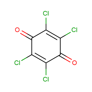 Tetrachloroquinone,CAS No. 118-75-2.