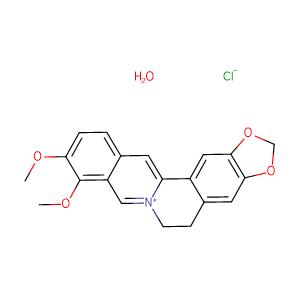 Berberine chloride,CAS No. 141433-60-5.