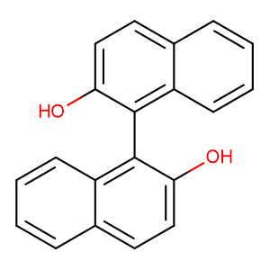 1,1'-binaphthyl-2,2'-diol,CAS No. 602-09-5.