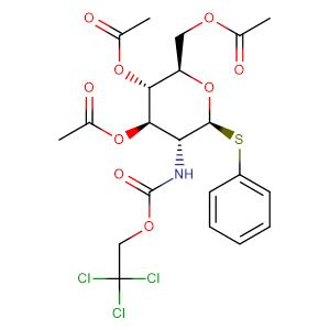 phenyl 3,4,6-tri-O-acetyl-2-deoxy-1-thio-2-(2,2,2-trichloroethoxycarbonylamino)-β-D-glucopyranoside,CAS No. 187022-49-7.