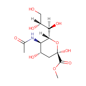 methyl 5-acetamido-3,5-dideoxy-D-glycero-α-D-galacto-non-2-ulopyranosonate,CAS No. 22900-11-4.