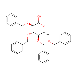 (3R,4S,5R,6R)-3,4,5-tris(benzyloxy)-6-((benzyloxy)methyl)tetrahydro-2H-pyran-2-ol,CAS No. 4132-28-9.