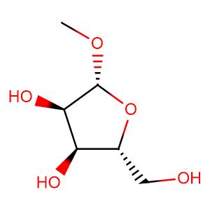 1-O-methyl-β-D-ribofuranoside,CAS No. 7473-45-2.