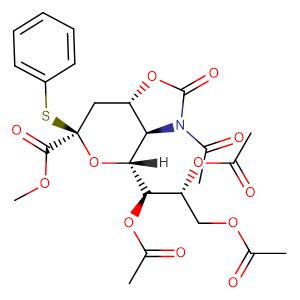 methyl (phenyl 5-acetamido-7,8,9-tri-O-acetyl-5-N,4-O-carbonyl-3,5-dideoxy-2-thio-D-glycero-β-D-galactonon-2-ulopyranoside)onate,CAS No. 934591-76-1.