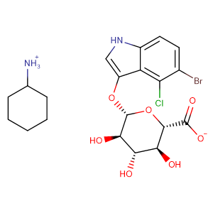 5-Bromo-4-chloro-3-indolyl-beta-D-glucuronide cyclohexylammonium salt,CAS No. 18656-96-7.