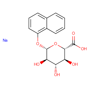 1-Naphthyl -β-D-glucuronide sodium salt,CAS No. 83833-12-9.
