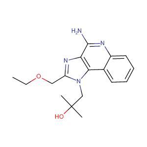 1-(4-Amino-2-(ethoxymethyl)-1H-imidazo[4,5-c]quinolin-1-yl)-2-methylpropan-2-ol,CAS No. 144875-48-9.