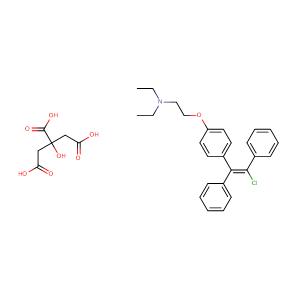 trans-Clomiphene citrate,CAS No. 7599-79-3.