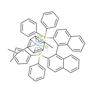 (R)-(+)-2,2'-BIS(DIPHENYLPHOSPHINO)-1,1'-BINAPHTHALENECHLORO(P-CYMENE)RUTHENIUM CHLORIDE,CAS No. 145926-28-9.