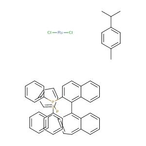 (R)-(+)-2,2'-BIS(DIPHENYLPHOSPHINO)-1,1'-BINAPHTHALENECHLORO(P-CYMENE)RUTHENIUM CHLORIDE,CAS No. 130004-33-0.