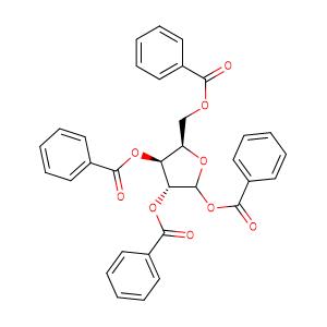 TETRA-O-BENZOYL-D-XYLOFURANOSE,CAS No. 5432-87-1.