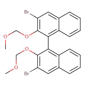 (+/-)-3,3'-dibromo-2,2'-bis(methoxymethoxy)-1,1'-binaphthyl,CAS No. 142010-87-5.