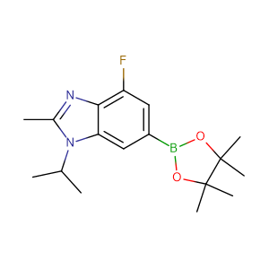 4-fluoro-1-isopropyl-2-methyl-6-(4,4,5,5-tetramethyl-[1,3,2]dioxaborolan-2-yl)-1H-benzoimidazole,CAS No. 1231930-37-2.