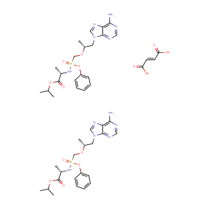 N-[(S)-[[(1R)-2-(6-amino-9H-purin-9-yl)-1-methylethoxy]methyl]phenoxyphosphinyl]-L-Alanine, 1-methylethyl ester, (2E)-2-butenedioate (2:1),CAS No. 1392275-56-7.