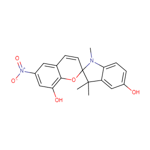 (±)-1',3',3'-trimethyl-6-nitrospiro[chromene-2,2'-indoline]-5',8-diol,CAS No. 1253909-21-5.