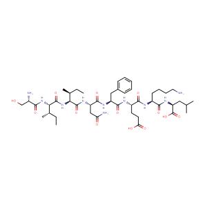 L-seryl-L-isoleucyl-L-isoleucyl-L-asparaginyl-L-phenylalanyl-L-α-glutamyl-L-lysyl-L-Leucine,CAS No. 138831-86-4.